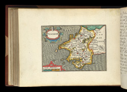 Map of Pembrokeshire, from Atlas of the British Isles, Pieter Van Den Keere